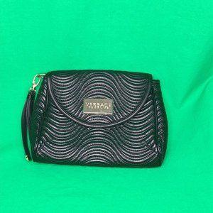 NWOT Versace Parfums Black Wristlet Purse Bag